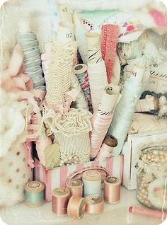 delicious pastel ribbons and trims