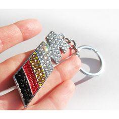 BMW M Crystal Keychain Bmw keychain Bmw Silver keychain Bling Bmw logo Bmw keychain with Swarovski Bmw key chain bmw keyring m3 m5 m6