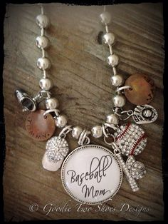 $62 Etsy listing at http://www.etsy.com/listing/153404756/baseball-mom-necklace-baseball-mom