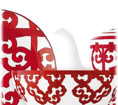 Vibrant reds replicate the feel of Andalusian ironwork in this, the most decadent porcelain service to date: Balcon du Guadalquivir. Hermes: $5,000.00