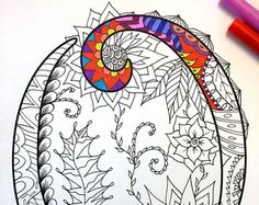 8.5x11 PDF coloring page of the uppercase letter R - inspired by the font Harrington  Fun for all ages.  Relieve stress, or just relax and have fun using your favorite colored pencils, pens, watercolors, paint, pastels, or crayons.  Print on card-stock paper or other thick paper (recommended).  Original art by Devyn Brewer (DJPenscript).  For personal use only. Please do not reproduce or sell this item.  HOW TO DOWNLOAD YOUR DIGITAL FILES…