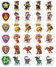 Paw Patrol x 30 Cupcake Toppers Edible Wafer Paper Fairy Cake Toppers Paw Patrol Cupcake Toppers, Paw Patrol Cupcakes, Paw Patrol Birthday Cake, Edible Cupcake Toppers, Paw Patrol Cups, Paw Patrol Party, Imprimibles Paw Patrol, Cumple Paw Patrol, Wafer Paper