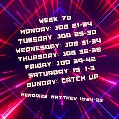 Week 76 Bible Reading Schedule, Matthew 10, How To Get, How To Plan, Neon Signs