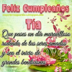 Imágenes con frases: Feliz cumpleaños querida Tía