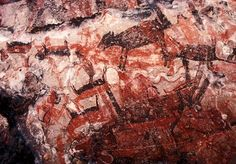 Rock art from San Gregorio, part of the spectacular cave paintings of Baja California, Mexico http://www.bradshawfoundation.com/baja/index.php