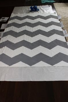 Chevron Curtains, if I can't find the right fabric, I'll give this a shot.
