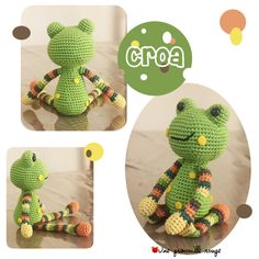 amigurumi-une-petite-grenouille-verte-tuto/ - The world's most private search engine Crochet Frog, Crochet Diy, Crochet Amigurumi, Crochet Gifts, Crochet For Kids, Amigurumi Patterns, Crochet Dolls, Crochet Patterns, Crochet Ideas
