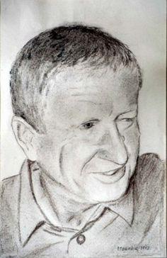 Peter Pavluvčík - portrét1, kresba