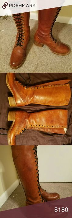 Frye boots Leather frye lace up boots Frye Shoes Lace Up Boots