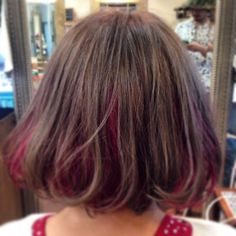 この画像は「脱平凡ガール!インナーカラーでおしゃれカラーをポイントで注入♡」のまとめの21枚目の画像です。 Medium Hair Styles, Short Hair Styles, Hair Arrange, Fancy Hairstyles, Hair Health, Red Hair, Hair Inspiration, Hair Color, Beauty