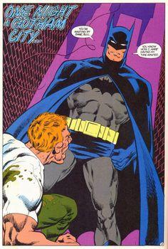 Batman by John Byrne. Love the square jaw and the big bat emblem.