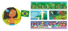 I'm Ready to Explore My World - Barbara Bongini #brazil #world #country #flag #culture #food #childrensbook #illustration #kidlitart #barbarabongini