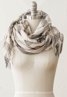 Tidal Blue Scarf. Pretty and light autumn scarf.