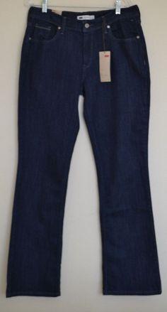 NWT Women's Levi's 515 Boot Cut Mid Rise Jeans Size 12/31 #Levis #BootCut