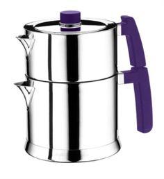 Emsan Lapis Paslanmaz Çelik Çaydanlık 1 lt demlik hacmi, 1,8 lt çaydanlık hacmi Geniş hacimli ve şık tasarımlı paslanmaz demlik ve çaydanlık...