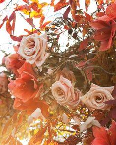 Fall florals at a wedding