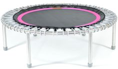 bellicon premium rebounder with silver bungees and a black and pink mat