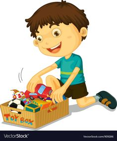 Boy with his toys Royalty Free Vector Image - VectorStock ,
