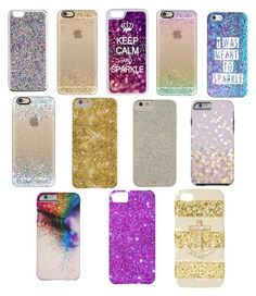 """""""Sparkly phone cases"""" by dancer0724 ❤ liked on Polyvore featuring J.Crew, Casetify, CellPowerCases and Case-Mate"""