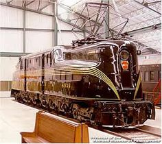 The GE Electric train built in Went between NC City, D., and Harrisburg. Electric Locomotive, Diesel Locomotive, Steam Locomotive, Train Tracks, Train Rides, New York Central Railroad, Pennsylvania Railroad, Rail Car, Train Pictures