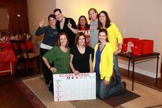 SCORE board  Invite and Delight: Minute to Win It Party