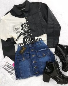 Best Fashion Outfit Ideas For Women Summer Outfits, Winter Outfits, Autumn Outfit, Spring outfit Party Outfits For Women, Teen Fashion Outfits, Edgy Outfits, Mode Outfits, Grunge Outfits, Outfits For Teens, Girl Outfits, Fashion Ideas, Casual Hipster Outfits