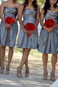 Scarlet and gray-this will probably be my wedding                                                                                                                                                                                 More