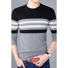 Sweater Men 2018 New Arrival Casual Pullover Men Autumn Round Neck Patchwork Quality Knitted Brand Male Sweaters long sleeve . Cashmere Sweater Men, Men Sweater, Business Casual Men, Men Casual, Drop Crotch Pants Men, Jersey Casual, Slim Fit Ripped Jeans, Male Sweaters, Denim Joggers