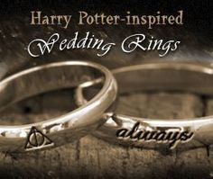 A Harry Potter-themed wedding sure deserves every bit of detailed planning as there ever can be. Here's taking a look at all those little details that will make your magical wedding idea, a real one! Harry Potter Engagement Ring, Harry Potter Wedding Rings, Harry Potter Theme, Harry Potter Love, Magical Wedding, Dream Wedding, Wedding Book, Wedding Things, Perfect Wedding
