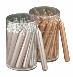 Amazon.com - Biedermann & Sons 20 Gold Metallic Chime Or Tree Candles - Single Wick Candles