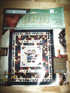 NEW-1996-Quick-Quilt-Panel-Raggedy-Ann-amp-Andy-Christmas-Folk-Art-Daisy-Kingdom