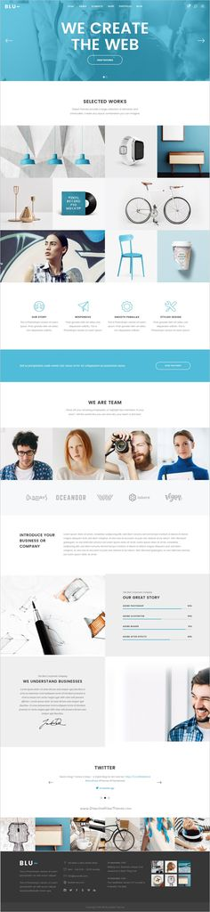 Blu is beautifully design responsive #WordPress theme for multipurpose #agency #website with 18+ stunning homepage layouts download now➩ https://themeforest.net/item/blu-a-beautiful-theme-for-businesses-and-individuals/18217358?ref=Datasata