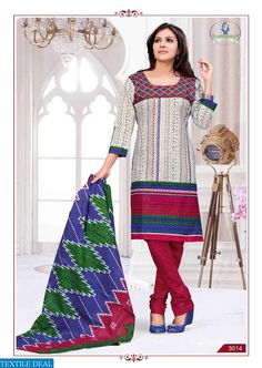 SURYADEEP VOL-3 WHOLESALE LOW RANGE CHUDIDAR DRESS MATERIAL Catelog pieces: 22 Full Catelog Price: 6050 Price Per piece: 275 MOQ: Full catalog Shipping Time: 4-5 days Delivery: Ready to dispatch Sizes: Material  Fabrics Detail Top ;- cotton Bottom :- cotton Dupatta :- cotton #nicecollection  #goodmateriel  #awesomelook Call&Whatsapp;+917405434651 website link :-http://textiledeal.in/wholesale-product/4377/Suryadeep-vol-3-Wholesale-low-range-Chudidar-Dress-material