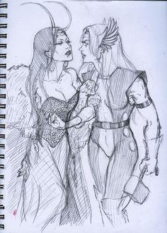 Thor / Loki Artist : christopherpublick on tumblr Thor Girl, Loki Thor, Gay Couple, Love Story, Artist, Reading, Artists
