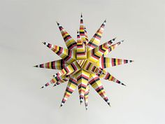 Free Christmas Craft Patterns | christmas 3d-star - crafts ideas - crafts for kids