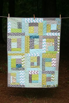 READY TO SHIP  Seaglass Toddler Quilt by iguesssew on Etsy, $100.00