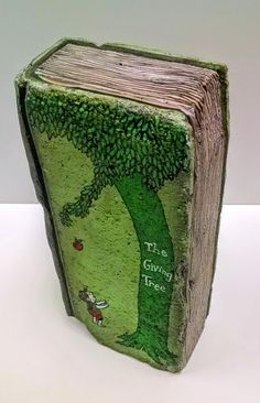 Items similar to Book Bricks *w/ COVER & SPINE ART (Examples of my Custom Book Bricks) view all photos and choose your favorite or Custom Order your own. on Etsy Painted Bricks Crafts, Brick Crafts, Painted Pavers, Painted Books, Brick And Stone, Stone Art, Old Book Crafts, Brick Art, Beton Diy