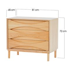 Schafer Three Drawer Cabinet - Cabinets and Side Tables - Bedroom - Products - Blue Sun Tree