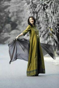 New Fashion Saree, Batik Fashion, Muslim Fashion, Ethnic Fashion, Fashion Wear, Modest Fashion, Hijab Fashion, Fashion Outfits, Womens Fashion