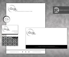 Personalized stationary. Custom company branding stationary. Letterhead, envelope and business card