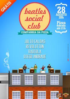 Cartaz para o evento BEATLES SOCIAL CLUB