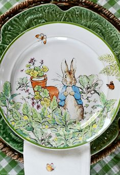 In the Potting Shed: Tabletop Gardening with Peter Rabbit Pink Painting, Ceramic Painting, Snowball Viburnum, Beatrice Potter, Rabbit Garden, Benjamin Bunny, Picture Letters, Black And White Illustration, Spring Blooms