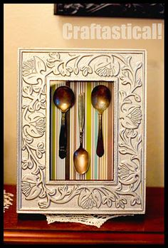 shadow box made from 3 regular frames glued together