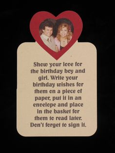 This oversized tag was embellished with a heart, a photo and a special message.