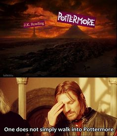 I have a love/hate relationship with Pottermore at the moment. Boromir knows what I'm talkin' about.