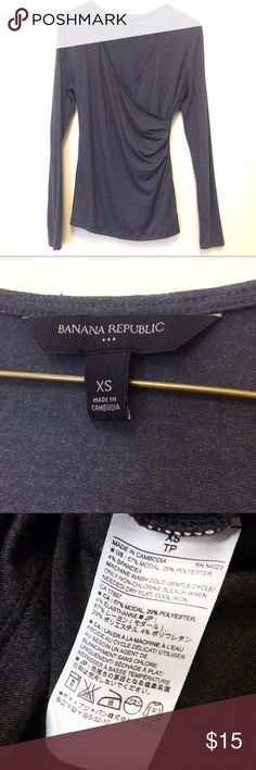 Banana Republic Charcoal Gray Soft Drapey Top Pretty top, makes an easy work outfit with a tank and dress pants. Super soft and comfortable. Only worn a couple times! From BR Factory. Banana Republic Tops Blouses