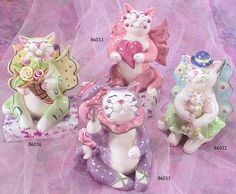 whimsiclay fairy cats
