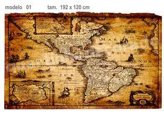 Adesivo Mapa Antigo 01                                                                                                                                                                                 Mais