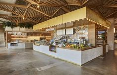 Take a Look Around Brickell's New 40,000-Square-Foot Food Hall - Eater Miami Kiosk Design, Hall Design, Store Design, Bakery Design, Rustic Pizza, Food Court Design, Family Style Restaurants, Supermarket Design, Private Dining Room