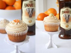Amarula, Orange and White Chocolate Cupcakes Chocolate Cake Icing, White Chocolate Cupcakes, Orange Cupcakes, Baking Recipes Cupcakes, Yummy Cupcakes, Liquor Cupcakes, Muffins, Eat Dessert First, Sweet Cakes
